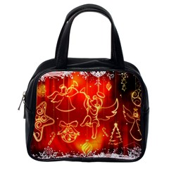 Christmas Widescreen Decoration Classic Handbags (One Side)