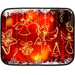Christmas Widescreen Decoration Fleece Blanket (Mini)