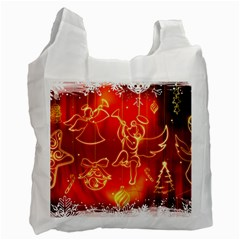 Christmas Widescreen Decoration Recycle Bag (One Side)