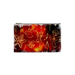 Christmas Widescreen Decoration Cosmetic Bag (Small)