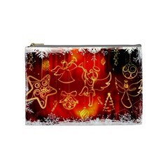 Christmas Widescreen Decoration Cosmetic Bag (Medium)
