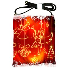 Christmas Widescreen Decoration Shoulder Sling Bags
