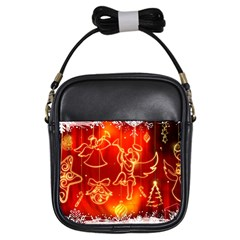 Christmas Widescreen Decoration Girls Sling Bags