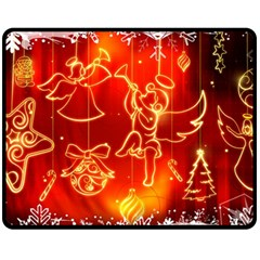 Christmas Widescreen Decoration Fleece Blanket (Medium)