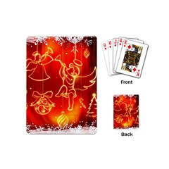 Christmas Widescreen Decoration Playing Cards (Mini)