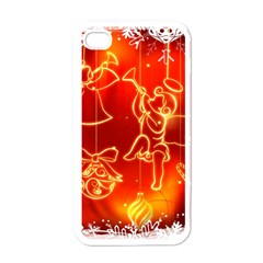 Christmas Widescreen Decoration Apple iPhone 4 Case (White)