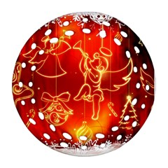 Christmas Widescreen Decoration Round Filigree Ornament (2Side)