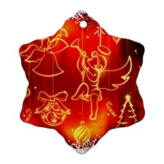 Christmas Widescreen Decoration Snowflake Ornament (2-Side)