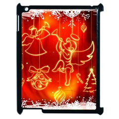 Christmas Widescreen Decoration Apple iPad 2 Case (Black)