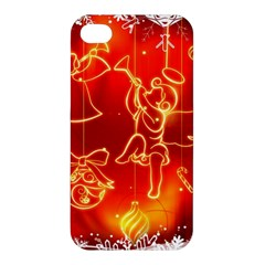 Christmas Widescreen Decoration Apple iPhone 4/4S Hardshell Case