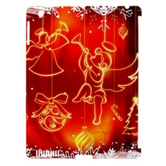 Christmas Widescreen Decoration Apple iPad 3/4 Hardshell Case (Compatible with Smart Cover)