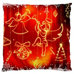 Christmas Widescreen Decoration Large Cushion Case (Two Sides)