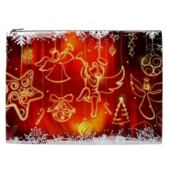 Christmas Widescreen Decoration Cosmetic Bag (XXL)