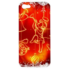 Christmas Widescreen Decoration Apple iPhone 5 Hardshell Case