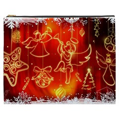 Christmas Widescreen Decoration Cosmetic Bag (XXXL)