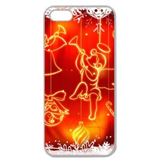 Christmas Widescreen Decoration Apple Seamless iPhone 5 Case (Clear)