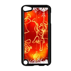 Christmas Widescreen Decoration Apple iPod Touch 5 Case (Black)