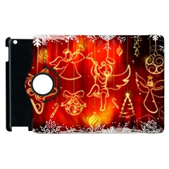 Christmas Widescreen Decoration Apple iPad 2 Flip 360 Case