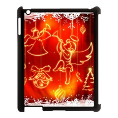 Christmas Widescreen Decoration Apple iPad 3/4 Case (Black)