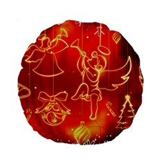 Christmas Widescreen Decoration Standard 15  Premium Round Cushions