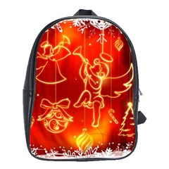 Christmas Widescreen Decoration School Bags (XL)