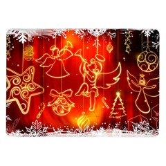 Christmas Widescreen Decoration Samsung Galaxy Tab 10.1  P7500 Flip Case