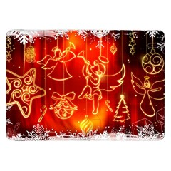 Christmas Widescreen Decoration Samsung Galaxy Tab 8.9  P7300 Flip Case