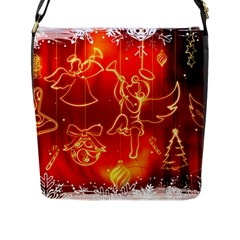 Christmas Widescreen Decoration Flap Messenger Bag (L)