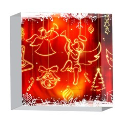 Christmas Widescreen Decoration 5  x 5  Acrylic Photo Blocks
