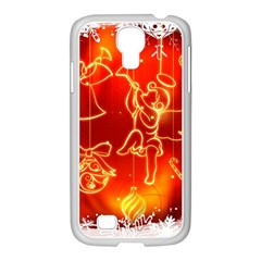 Christmas Widescreen Decoration Samsung GALAXY S4 I9500/ I9505 Case (White)