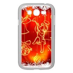 Christmas Widescreen Decoration Samsung Galaxy Grand DUOS I9082 Case (White)