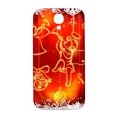 Christmas Widescreen Decoration Samsung Galaxy S4 I9500/I9505  Hardshell Back Case