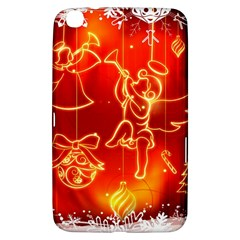 Christmas Widescreen Decoration Samsung Galaxy Tab 3 (8 ) T3100 Hardshell Case