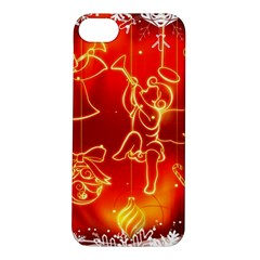 Christmas Widescreen Decoration Apple iPhone 5S/ SE Hardshell Case