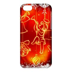 Christmas Widescreen Decoration Apple iPhone 5C Hardshell Case