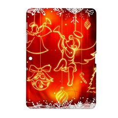 Christmas Widescreen Decoration Samsung Galaxy Tab 2 (10.1 ) P5100 Hardshell Case