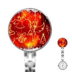 Christmas Widescreen Decoration Stainless Steel Nurses Watch