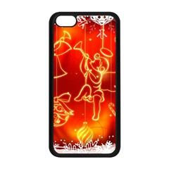 Christmas Widescreen Decoration Apple iPhone 5C Seamless Case (Black)