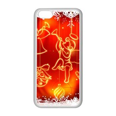 Christmas Widescreen Decoration Apple iPhone 5C Seamless Case (White)