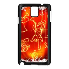 Christmas Widescreen Decoration Samsung Galaxy Note 3 N9005 Case (Black)