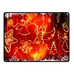 Christmas Widescreen Decoration Double Sided Fleece Blanket (Small)