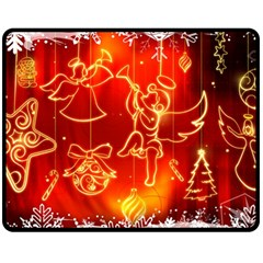 Christmas Widescreen Decoration Double Sided Fleece Blanket (Medium)