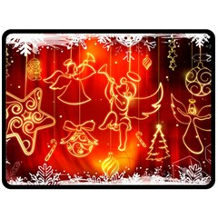 Christmas Widescreen Decoration Double Sided Fleece Blanket (Large)