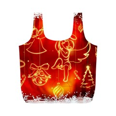Christmas Widescreen Decoration Full Print Recycle Bags (M)