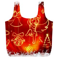 Christmas Widescreen Decoration Full Print Recycle Bags (L)