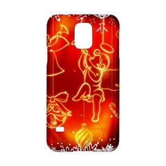 Christmas Widescreen Decoration Samsung Galaxy S5 Hardshell Case