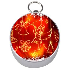 Christmas Widescreen Decoration Silver Compasses