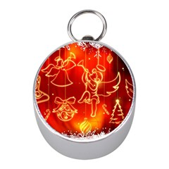 Christmas Widescreen Decoration Mini Silver Compasses