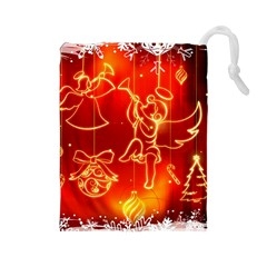 Christmas Widescreen Decoration Drawstring Pouches (Large)