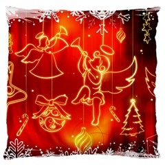 Christmas Widescreen Decoration Large Flano Cushion Case (One Side)
